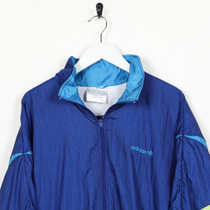 Vintage 80s ADIDAS Small Logo Festival Windbreaker Jacket Blue | Large L