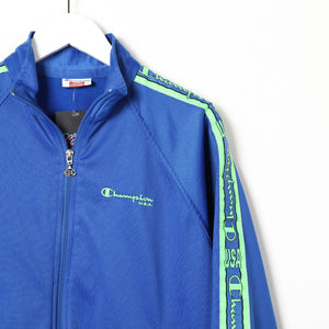 Vintage Women's CHAMPION Tape Arm Full Tracksuit Jacket Bottoms Blue Small s