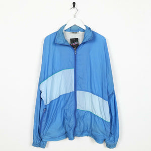 Vintage 90s Soft Shell Windbreaker Jacket Blue XL