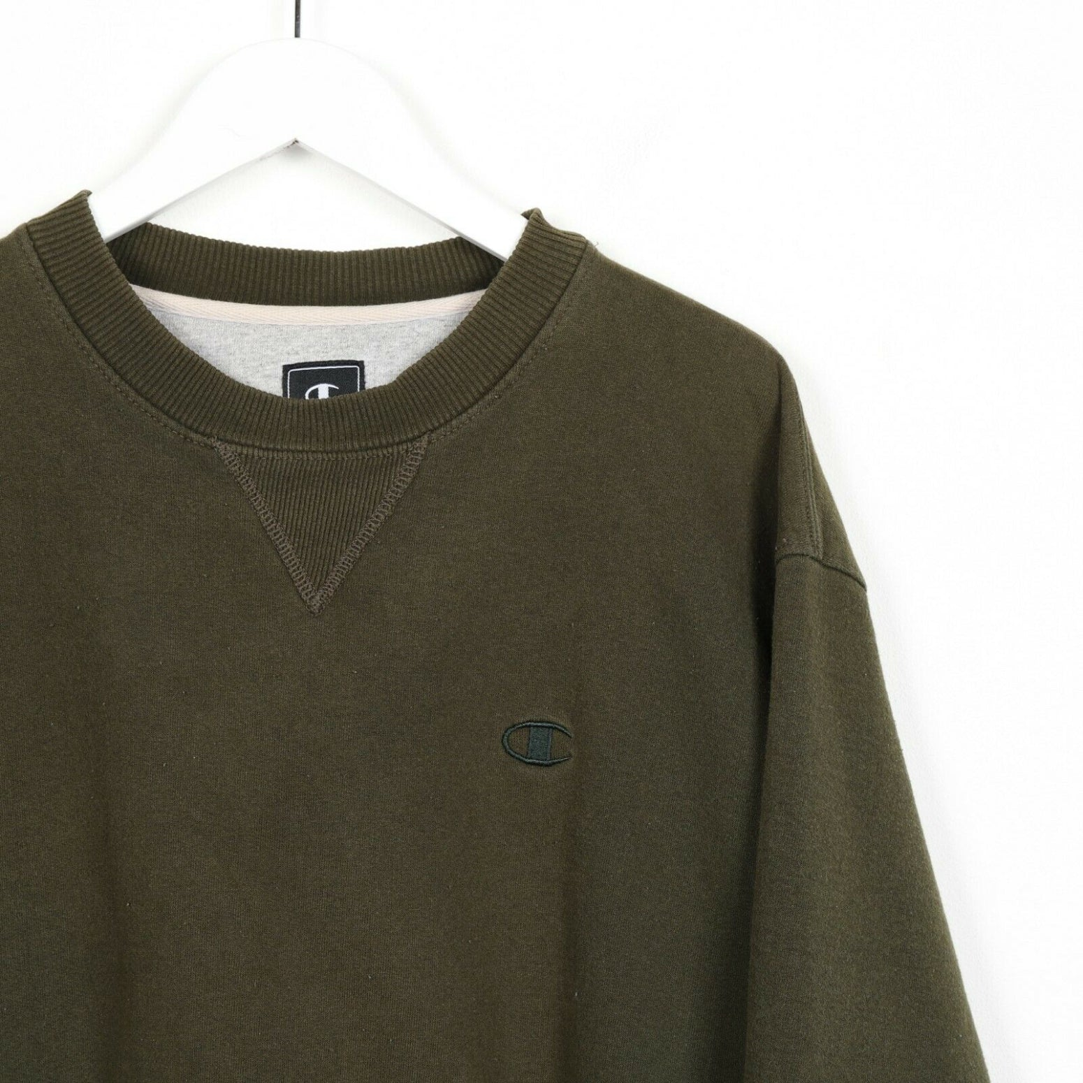 Vintage CHAMPION Small Logo Sweatshirt Jumper Green | Medium M