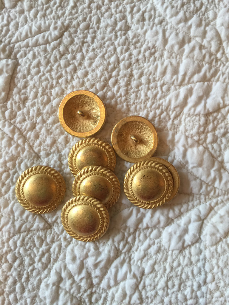 Brushed Gold Buttons-Set of 26
