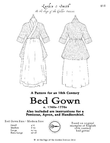 1770s English Bedgown Pattern