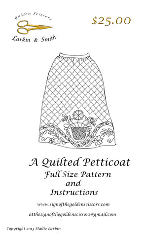 18th Century Quilted Petticoat Pattern