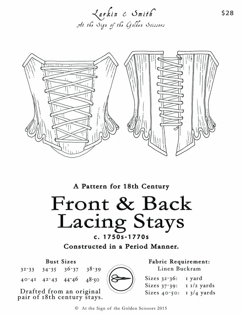 Front and Back Lacing Stays Pattern