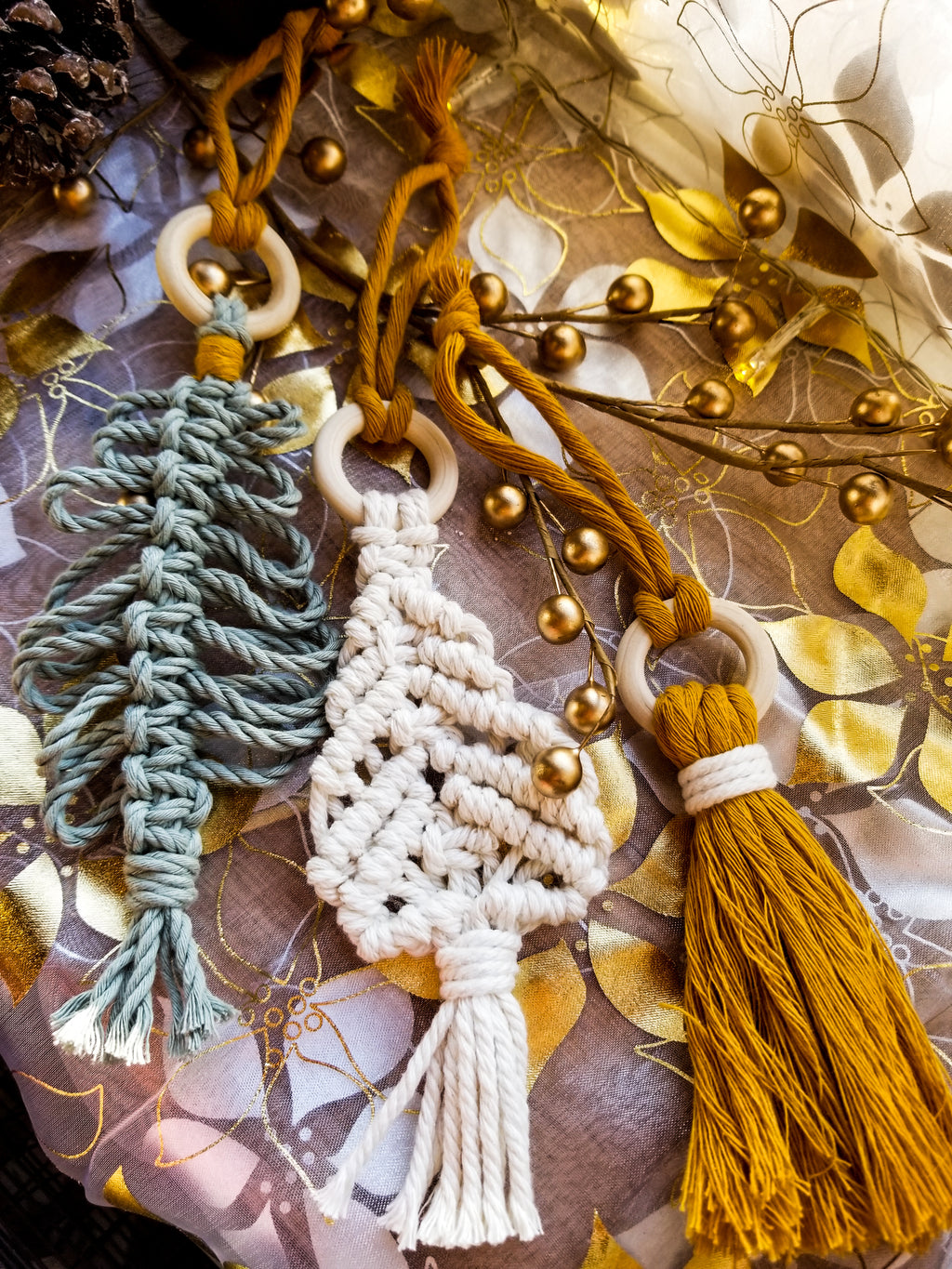 Macramé Tree Ornaments