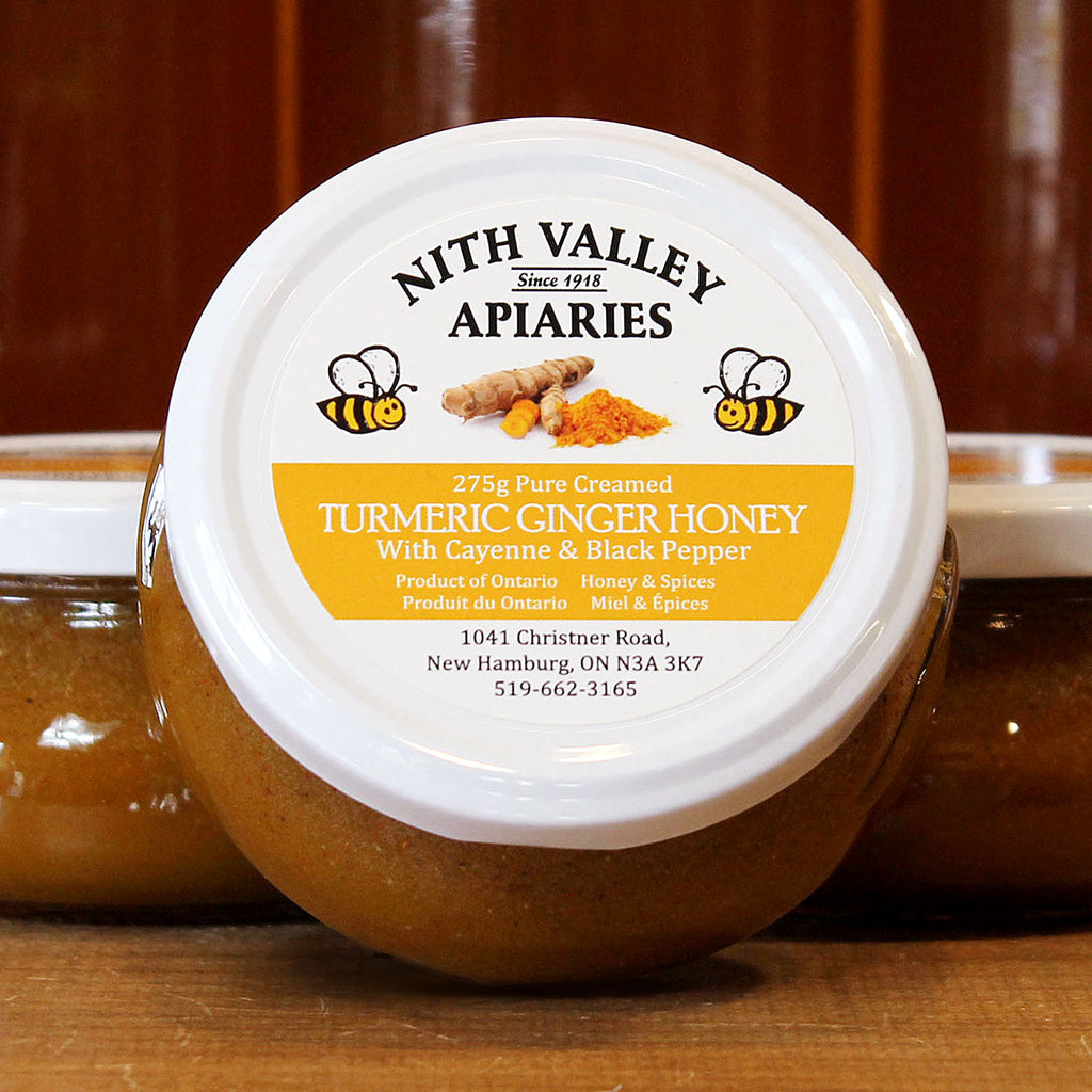 tumeric ginger flavoured creamed honey