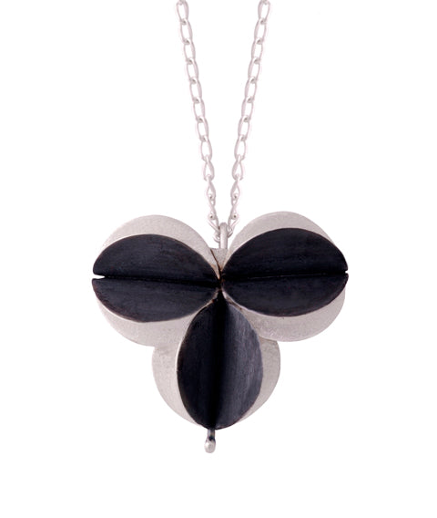 I have always loved the shapes of different plant pods. As a jeweller these shapes are hard to resist. This necklace is hand-crafted from sterling silver and has a sterling silver chain.