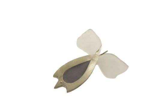 Sea butterfly brooch by janine combes contemporary jeweller