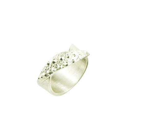 Silver Sea urchin ring by Tasmanian jeweller Janine Combes