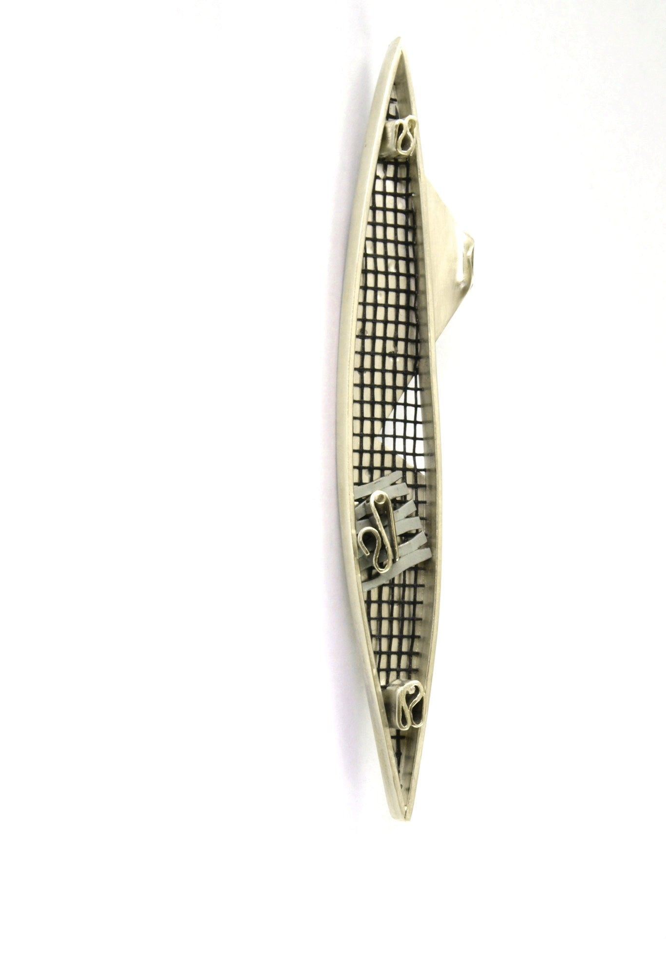 Shark Net Brooch by Janine Combes Australian contemporary art jeweller