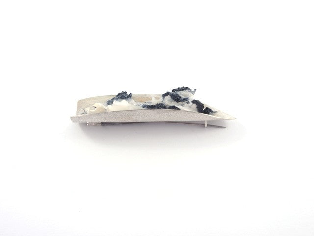 White lichen brooch - Tasmanian Contemporary art jewellery