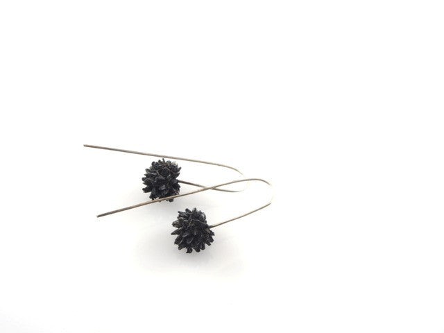 Button grass earrings by Tasmanian designer