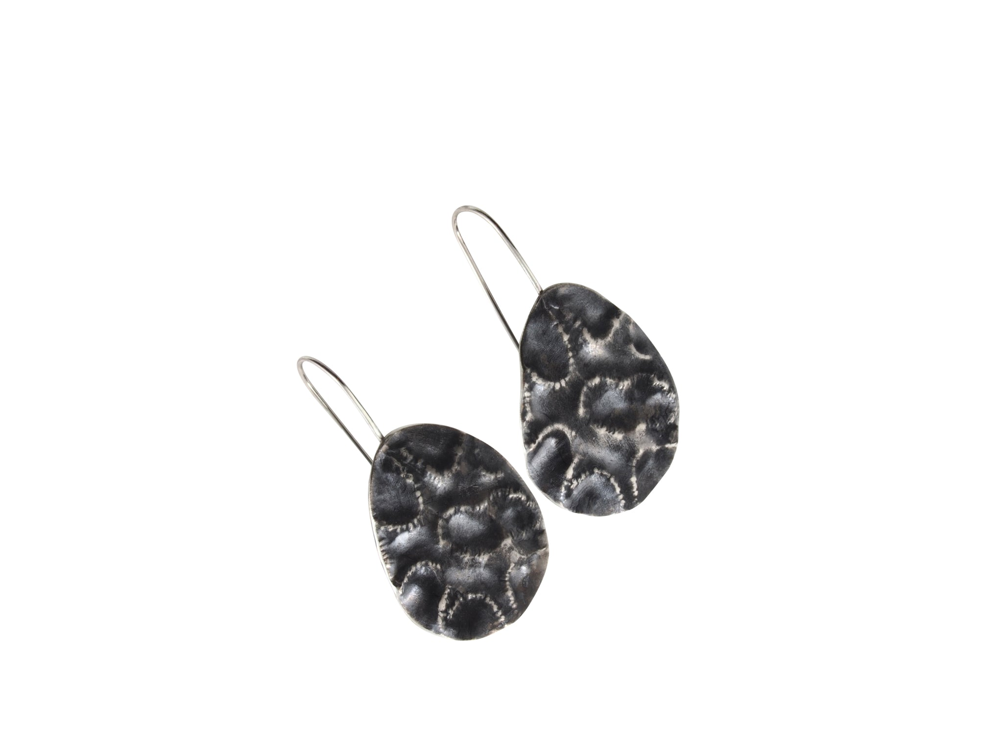 The black coral earrings are made from sterling silver. Perfect for those who love the sea and love the colour black!