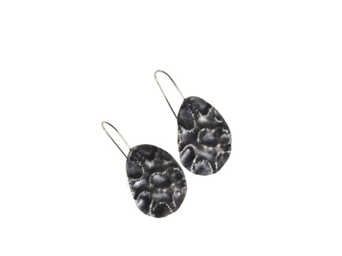 black coral earrings