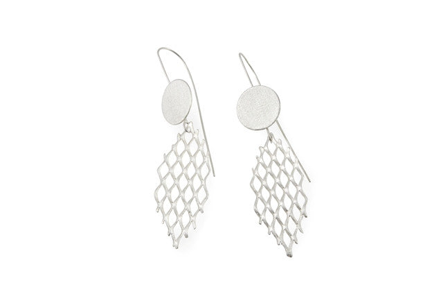 Sea Mesh earrings - Tasmanian contemporary silver jewellery