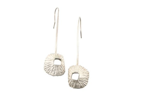 The barnacle earrings are made from sterling silver and they also have sterling silver ear-wires. They come in black and silver versions.