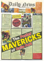 "Daily News celebrates the ""Poster Mavericks of Galle Fort""."