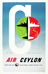 Air Ceylon, 1953. The Trunk Route of the Orient.
