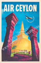 Air Ceylon (Anaradhapura). The Trunk Route of the Orient, Melbourne, Australia, 1960.