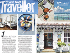 "Conde Nast Traveller on Stick No Bills' ""kitschy retro travel prints"", December 2016."