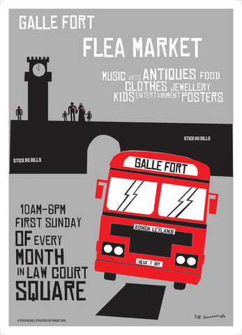 "Galle Fort Flea Market aka ""Galle Pola"", Law Court Square 10am - 4pm. First Sunday of Every Month."