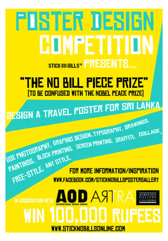 No Bill Piece Prize Advert