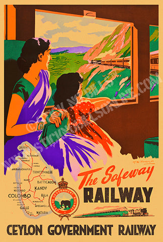 The Safeway, Railway, [To Ella By Train From Colombo via Kandy], Ceylon, 1948.