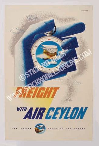 "Air Ceylon, 1952. ""Freight With Air Ceylon"". Australia, 1952."