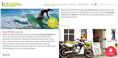 STICK NO BILLS™ featured in I-Escape's Insider Guide to Galle and the South Coast.