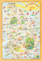 Ceylon Pleasure Map  (Second Edition - Yellow), 1948.