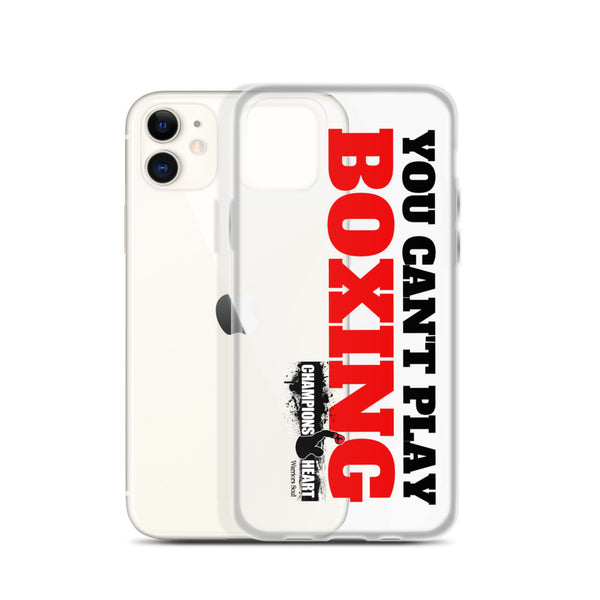 Can't Play Boxing iPhone Case