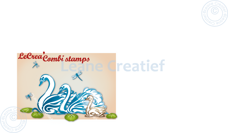 Lecreadesign Combi Clear Stamp Swan Family