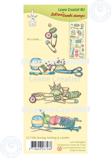 Lecreadesign Combi Clear Stamp Sewing Knitting & Crochet