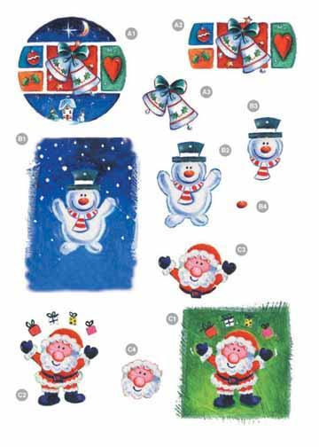 Craft UK Christmas Santa/Snowman