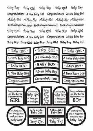 Craft UK Caption - baby silver foil