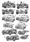 Craft UK Black & White Race Cars