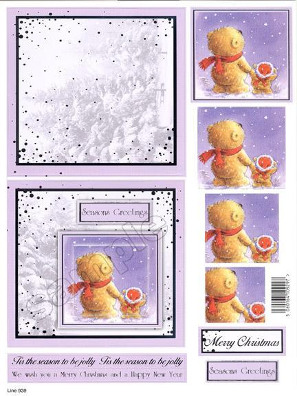 Craft UK Card Kit Teddies