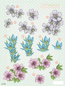 Craft UK3D Precut - Polka Dot Florals