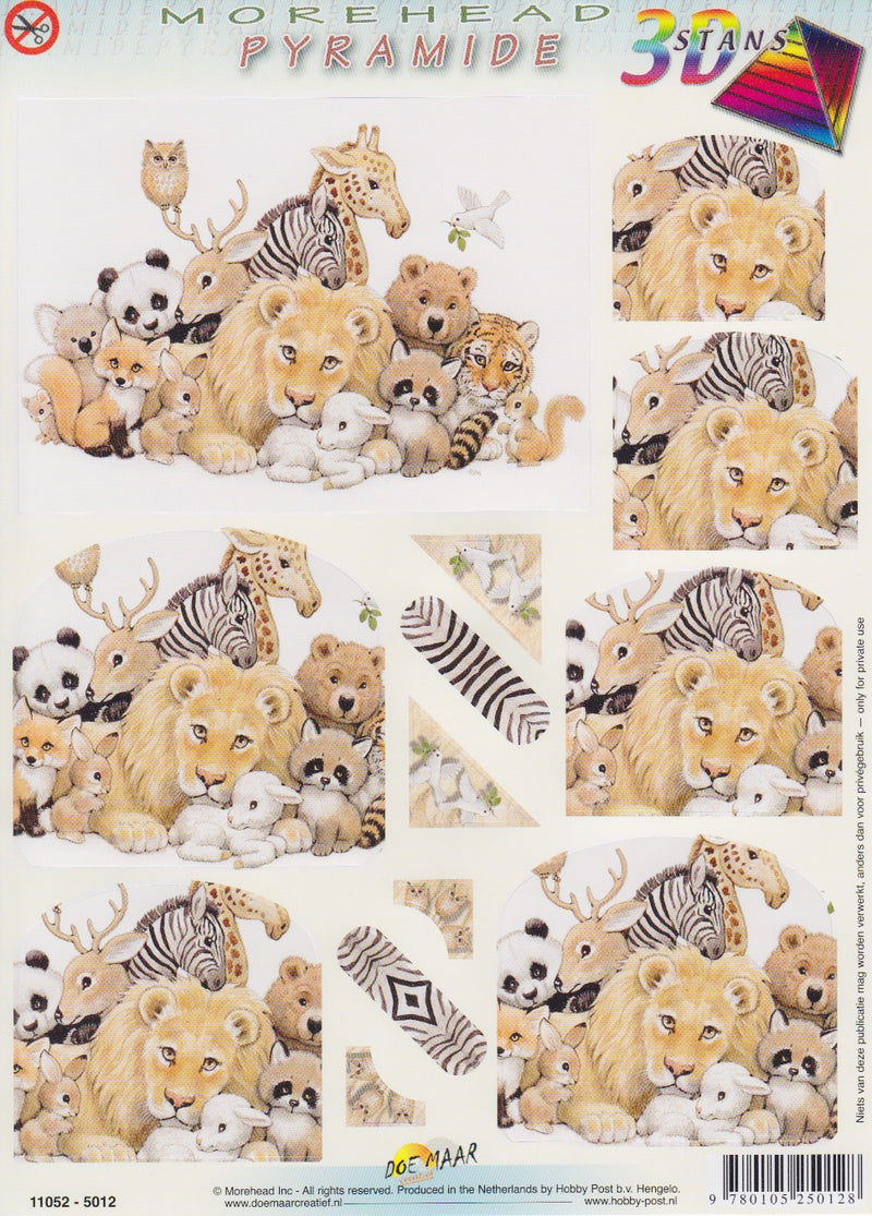 3D Precut Morehead Pyramid  Baby Zoo Animals
