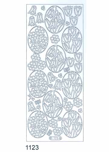 Deco Stickers - Ovals with Flowers