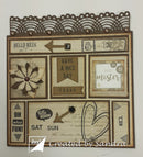 Noor scrap cutting die and stamp - Days of the Week