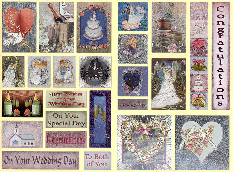 2 Dufex Metallic Stickers Sheets - Occasions Greetings