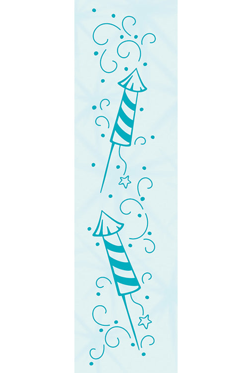 Border embossing folder Firework 23x123mm