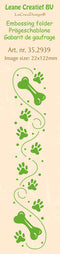 Leane Creatief BV-Border Embossing Folder Paws & Bones