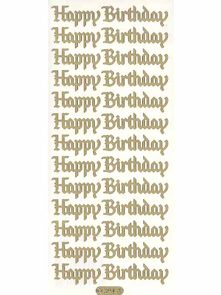 Deco Stickers - Happy Birthday