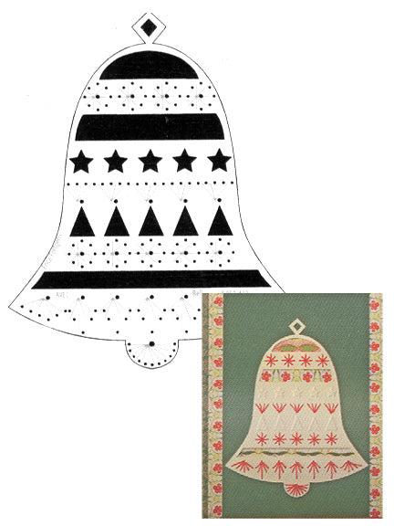 Embroidery Stencil - Christmas Bell