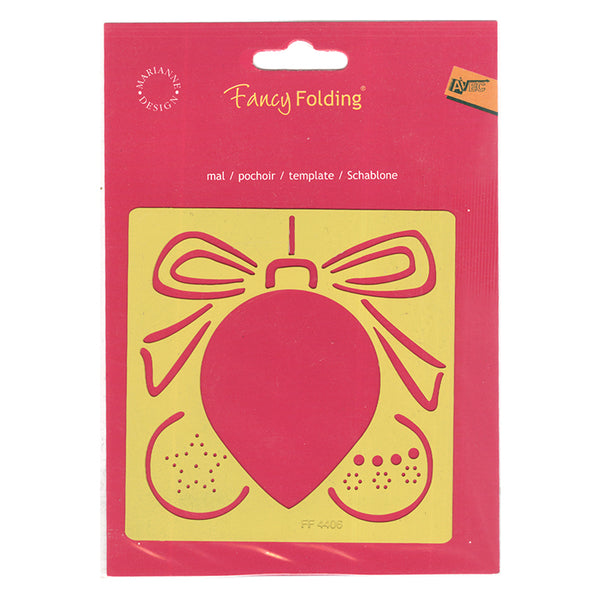 Fancy Folding Template - Xmas Ornament (FF4406)