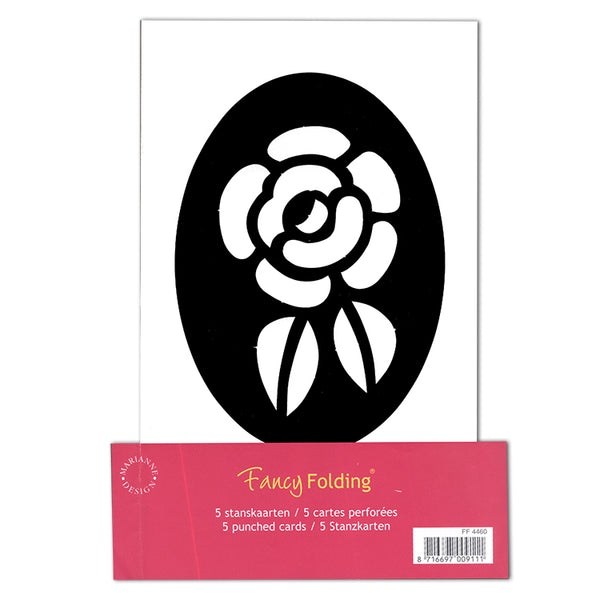 Fancy Folding Precut Cards - Rose