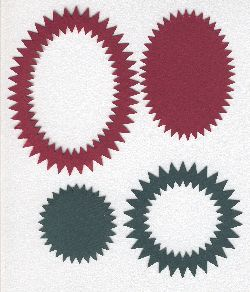 Spirelli Die Cut Oval/Circle  green/red