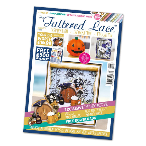 The Tattered Lace Magazine Issue #71 with FREE Die